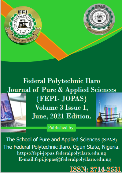 Cover Image For The FEPI-JOPAS Volume 3 Issue 1